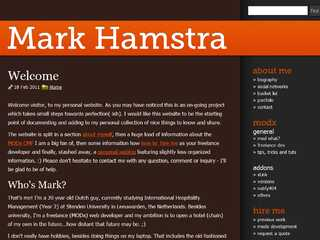 Mark Hamstra - Freelance MODX Development